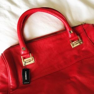 NWT Express Red Faux Leather Handbag